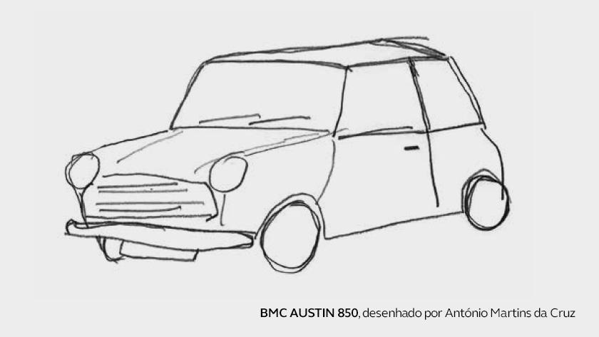 O primeiro carro de António Martins da Cruz