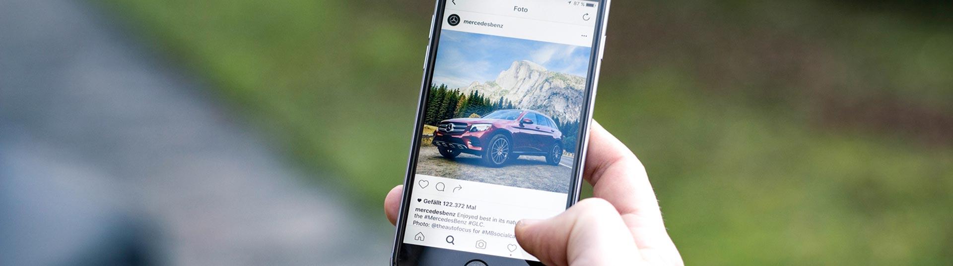 Mercedes nas redes sociais