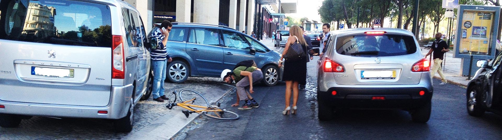 acidente com bicicleta