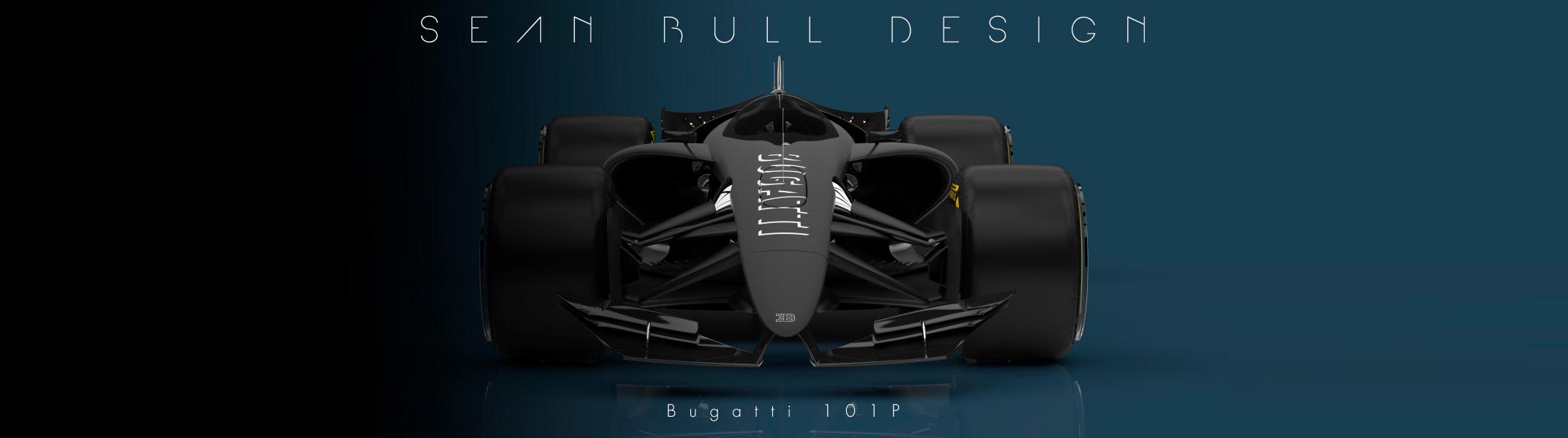 Bugatti 101P F1 Concept by Sean Bull